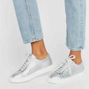 Metallic Silver Sneaker